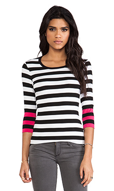 Bailey 44 Anatomically Correct Top in Black & White