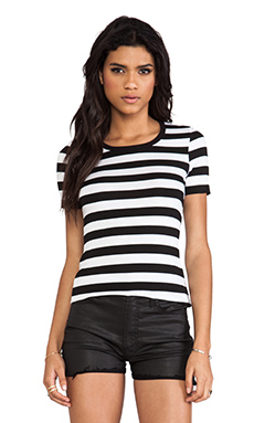 Bailey 44 Core Striped Top in Chalk