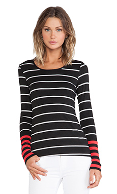 Bailey 44 REVOLVE EXCLUSIVE Tech Neck Top in Black & Red