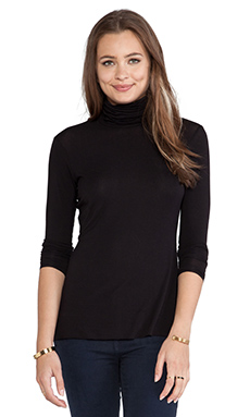 Bailey 44 Solid Turtle Neck in Black