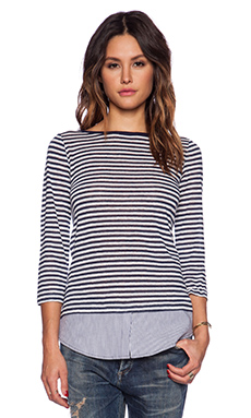 Bailey 44 Retreat Top in Even Stripe