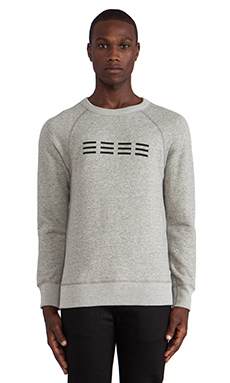 baldwin The Crew Pullover in Graphite Triple Stitch
