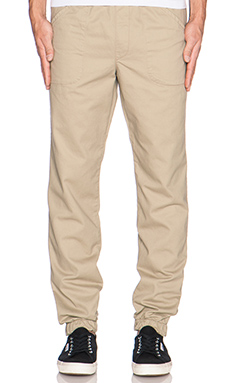 baldwin The Cash Jogger in Khaki Twill