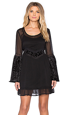 Band of Gypsies Baroque Mini Dress in Black