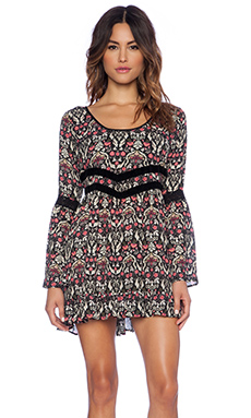 Band of Gypsies Ruffled Swing Dress in Multi