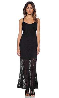 Band of Gypsies Lace Maxi Dress in Black