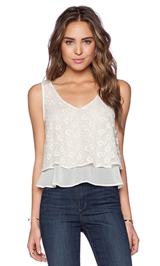 Band of Gypsies Floral Lace Top in Ivory