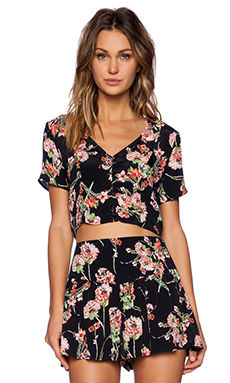 Band of Gypsies Maui Crop Top in Floral