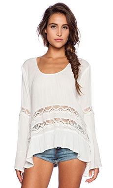 Band of Gypsies Bohemian Blouse in White