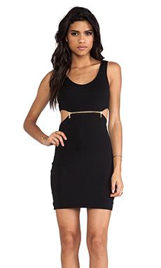 Bardot Zipper Cut Out Dress in Black