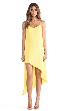 Bardot Asym Party Dress in Sesame
