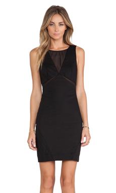 Bardot Yasmin Mesh Dress in Black