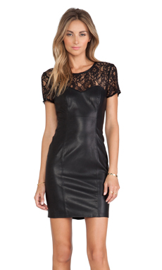 Bardot Femme Corset Dress in Black