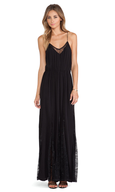 Bardot Charlotte Lace Maxi Dress in Black