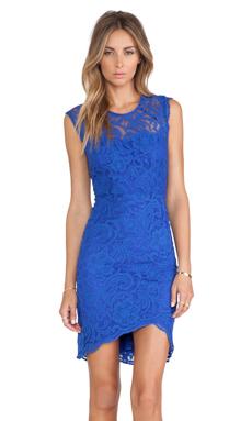 Bardot Gwen Lace Dress in Cobalt