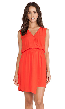 Bardot Asymmetrical Wrap Dress in Sunkissed