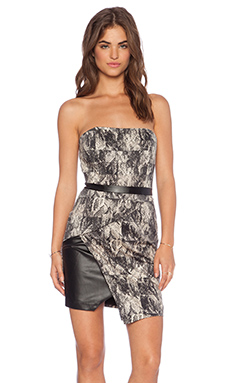 Bardot Block Snake Dress in Snake