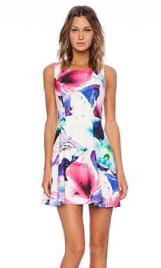 Bardot Romance Floral Dress in Floral