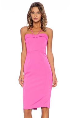 Bardot Pin Up Dress in Hot Pink