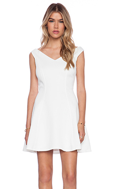 Bardot Garden Party Dress in Ivory