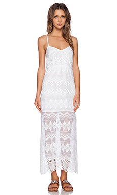 Bardot Lace Maxi Dress in White