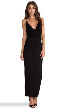 Bardot Cowl Maxi Dress in Black