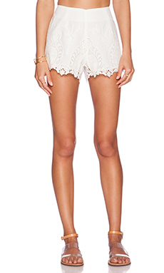 Bardot Lace Shorts in White