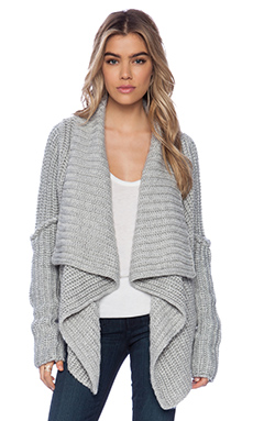 Bardot Meredith Cardigan in Grey Marle