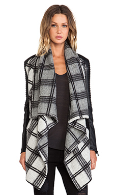 Bardot Over Rider Jacket in Check