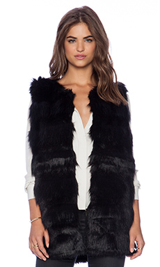 Bardot Naomi Fur Vest in Black
