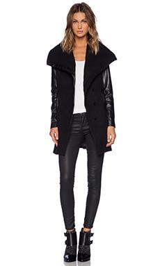 Bardot Raven Coat in Black