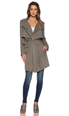 Bardot Trench Coat in Khaki
