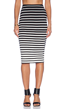 GRADUATED STRIPE SKIRT