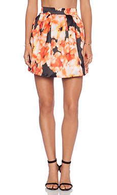 Bardot Wall Flower Skirt in Dark Floral