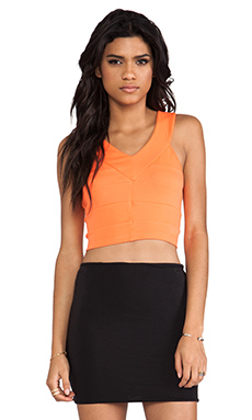 Bardot Mini Crop Top in Popsicle