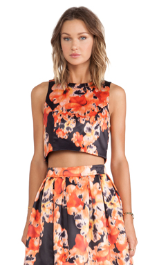 Bardot Wall Flower Top in Dark Floral