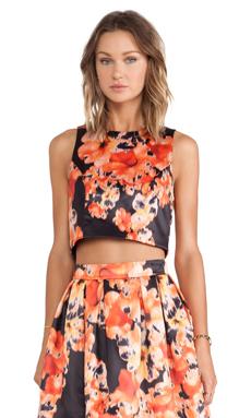 Bardot Wall Flower Top en Dark Floral
