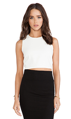 Bardot Cropped Shell Top in Ivory