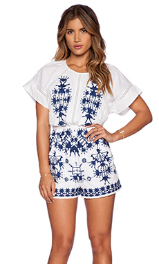 Basta Surf Waimea Romper in White & Navy