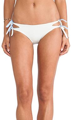 Basta Surf Onfre Double Tie Bikini Bottom inIvory & Vela