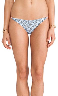 Basta Surf Palmas Braided Bikini Bottom in Graphic Flower & Ivory