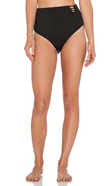 Basta Surf Bonaire High Rise Bikini Bottom in Noir & White & Black