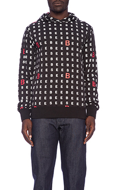 Billionaire Boys Club Chart Letter Pullover in Black