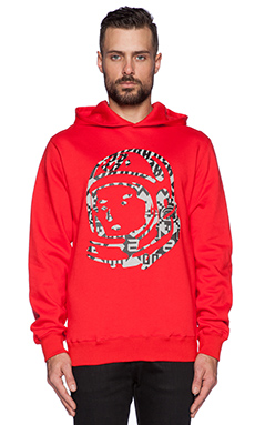 Billionaire Boys Club Nordic Helmet Hoodie in Heather Grey w/ Red
