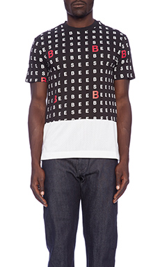 Billionaire Boys Club Chart Letter Tee in Black
