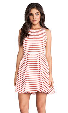 BB Dakota Carling Striped Mini Dress in Poppy & White
