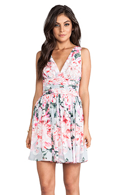 BB Dakota Zurie Floral Mini Dress in Pink