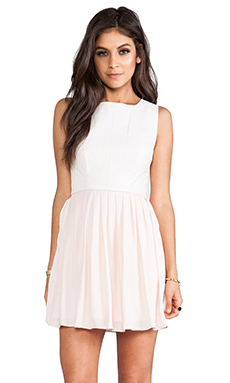 Jack By BB Dakota Camille Fit & Flare Dress in Peach Blush