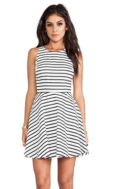 BB Dakota Carling Stripes Sateen Dress in Black & White