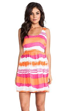Jack by BB Dakota Jamband Wave Print Dress in Beetroot Pink